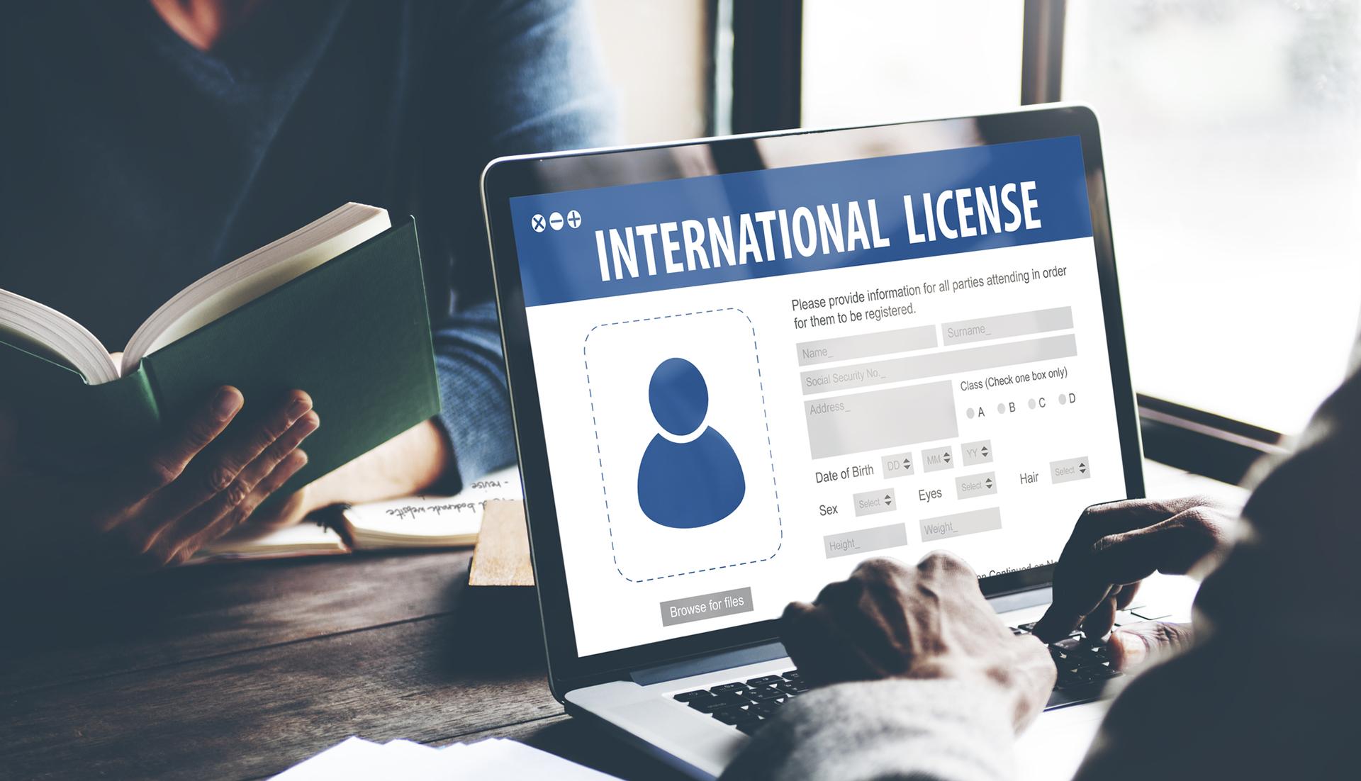 استخراج رخصة القيادة الدولية